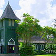 Hanalei Church Art Print