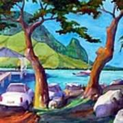 Hanalei Pier Art Print by Jerri Grindle