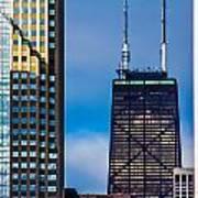 Hancock Building In Chicago  Art Print