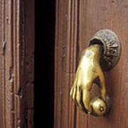 Hand Door Knocker San Miguel De Allende Mexico Art Print
