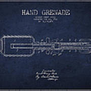Hand Grenade Patent Drawing From 1916 Art Print