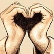 Hand Heart Art Print