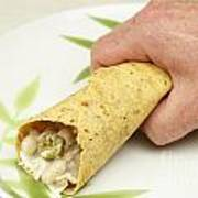 Hand Holding A Burrito Art Print