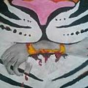 Hand In Mouth Print by Kendya Battle
