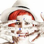 Hand Smile  Art Print