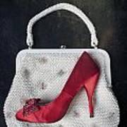 Handbag With Stiletto Art Print by Joana Kruse
