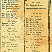 Handbill: Casualties, 1775 Art Print