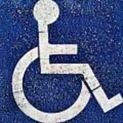 Handicapped Symbol Art Print