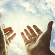 Hands In Sky Art Print