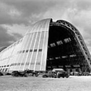 Hangar One At Moffett Field Print by Underwood Archives