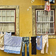 Hanging Clothes Of Old Europe II Art Print