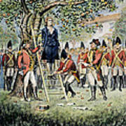 Hanging Of Nathan Hale Art Print
