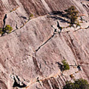 Hanging On To Dear Life - Enchanted Rock State Natural Area - Fredericksburg  Llano Art Print