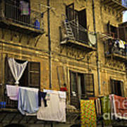 Hanging Out To Dry In Palermo  Art Print