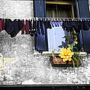 Hanging Out To Dry In Venice 2 Art Print