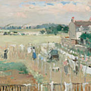 Hanging The Laundry Out To Dry Art Print by Berthe Morisot