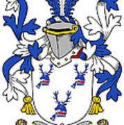 Hanna Coat Of Arms Irish Art Print