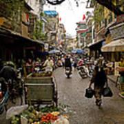 Hanoi Street Market    Art Print
