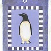 Hanukka Penguin Three Art Print