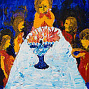 Hanukkah Menorah Art Print