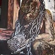 Hanuman In Chains Art Print