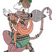 Hanuman Print by Kruti Shah
