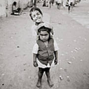 Happiness In India Art Print