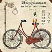 Happiness Is My Bicycle Art Print
