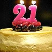 Happy 21st Birthday Art Print