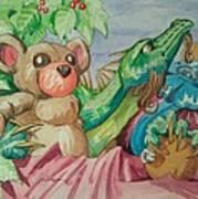 Happy Baby Dragon Art Print