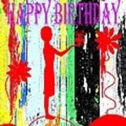 Happy Birthday 7 Art Print