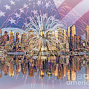 Happy Birthday America Art Print by Susan Candelario