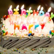 Happy Birthday Cake Art Print