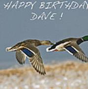 Happy Birthday Dave  Art Print