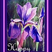 Happy Birthday Iris  Art Print