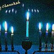 Happy Chanukah Art Print