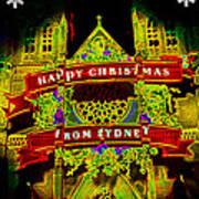 Happy Christmas From Sydney Art Print