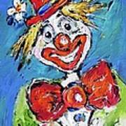 Happy Clown-ideal For Childrens Nurserys Art Print
