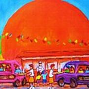 Happy Days At The Big  Orange Art Print
