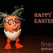 Happy Easter Greeting Card. Funny Eggmen Series Art Print