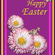 Happy Easter Hiding Bunny Art Print