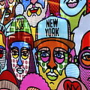 Happy Faces Happy Places New York Art Print