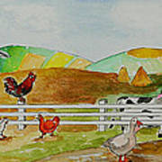 Happy Farm Art Print