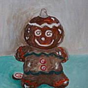 Happy Gingerbread Man Art Print