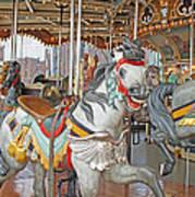 Happy Grey Pony Art Print