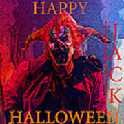 Happy Halloween Jack Art Print