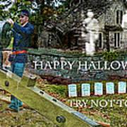 Happy Halloween-try Not To Scream Art Print