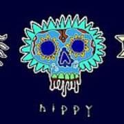 Happy Hippy Hopey Art Print