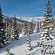 Happy Holidays - Winter Wonderland Art Print