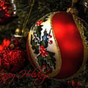 Happy Holidays Greeting Card Art Print